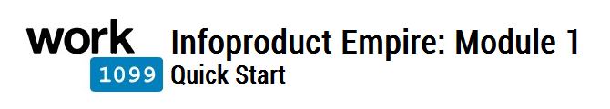 Infoproduct Empire Module 1